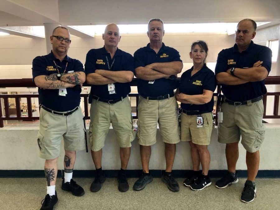 "DM security guards James Bisacca, David Fields, Jay Curtis, Noreen Mclellan, and Carlos Lopez say that security is only part of their jobs. ""Our relationships with the students is, in my opinion, the most important part of the job,"" said Dave Fields, who is in his 11th year at DM."
