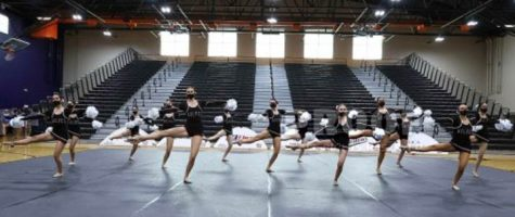 WE ARE THE CHAMPIONS: The Desert Mountain High School Arizona State Championship Pom Team: Jemma Burstein, Julia Goldesnson, Jenna Golucci, Anika Jaleeil, Parker Larazza, Kaylen Lucas, Jessica Marmis, Lauren McCarty, Mary Noyd, Brooke Quinzi, Donna Setyan, Maddie Voightmann, and Chloe Wallace. They captured the state title last month at the AIA State Qualifier Competition at Posten Butte High School.